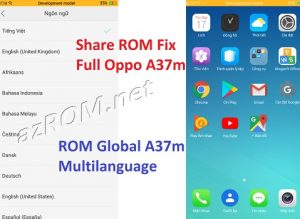 ROM tiếng Việt Oppo A37m - ROM Global Fix Full Multilanguage Oppo A37m