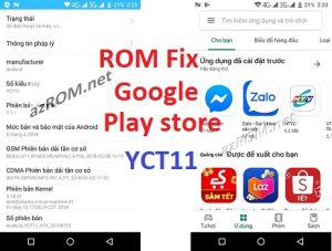 Rom Add Google Play YCT11 CHPlay