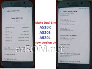 Make Dual Sim A520K A520L A520S New Version