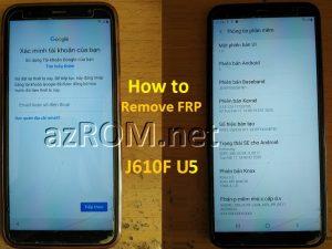 Remove FRP J610F U5