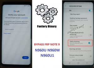 Bypass FRP N960U - N960U1 - N960W
