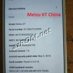 Meizu 6T China