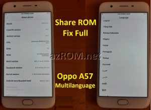 Share Firmware Fix Oppo A57 - Chia sẽ ROM Tiếng Việt CHPlay Oppo A57 - Free ROM Google play Oppo A57