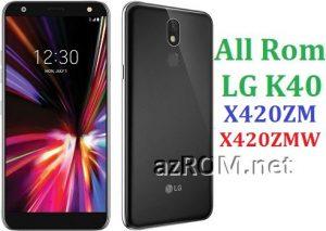All Rom LG K40 X420ZM X420ZMW Official Firmware LG LM-X420ZMW LM-X420ZM