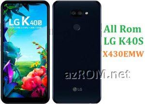 All Rom LG K40S X430EMW Official Firmware LG LM-X430EMW
