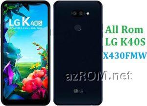 All Rom LG K40S X430FMW Official Firmware LG LM-X430FMW