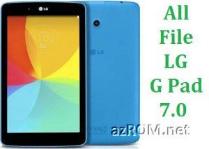 All Rom LG G Pad 7.0 LTE Official Firmware LG UK410 VK410 V400 V410 V411