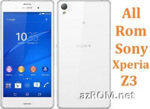All Rom Sony Xperia Z3 FTF Firmware Lock Remove File