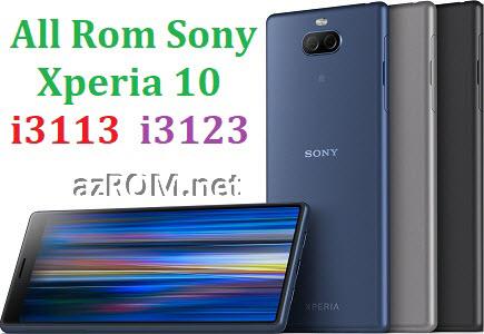 All Rom Sony Xperia 10 i3113 i3123 FTF Firmware Lock Remove File & Setool Flash File