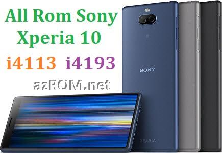 All Rom Sony Xperia 10 Dual i4113 i4193 FTF Firmware Lock Remove File & Setool Flash File