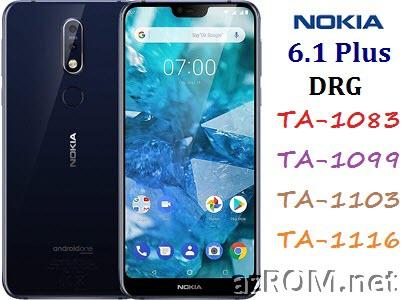 ROM Nokia 6.1+ Plus (Nokia X6) DRG TA-1083 TA-1099 TA-1103 TA-1116 Official Firmware