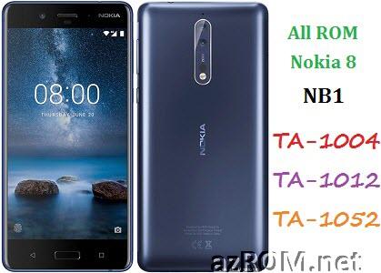 All ROM Nokia 8 (NB1) TA-1004 TA-1012 TA-1052 Official Firmware