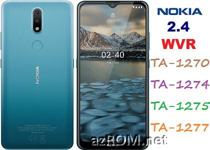 All ROM Nokia 2.4 (WVR) TA-1270 TA-1274 TA-1275 TA-1277 Official Firmware