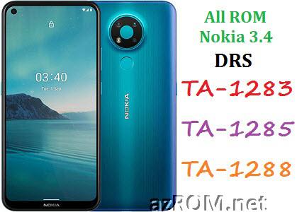 All ROM Nokia 3.4 (DRS) TA-1283 TA-1285 TA-1288 Official Firmware